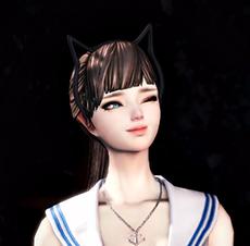 건녀 블루마린+고양이 머리띠